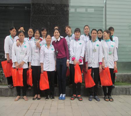 Tập thể cán bộ nhân viên làm việc tại Samsung - PVI